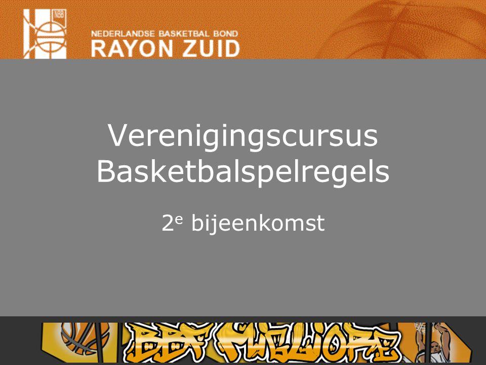 Verenigingscursus Basketbalspelregels 2 e bijeenkomst