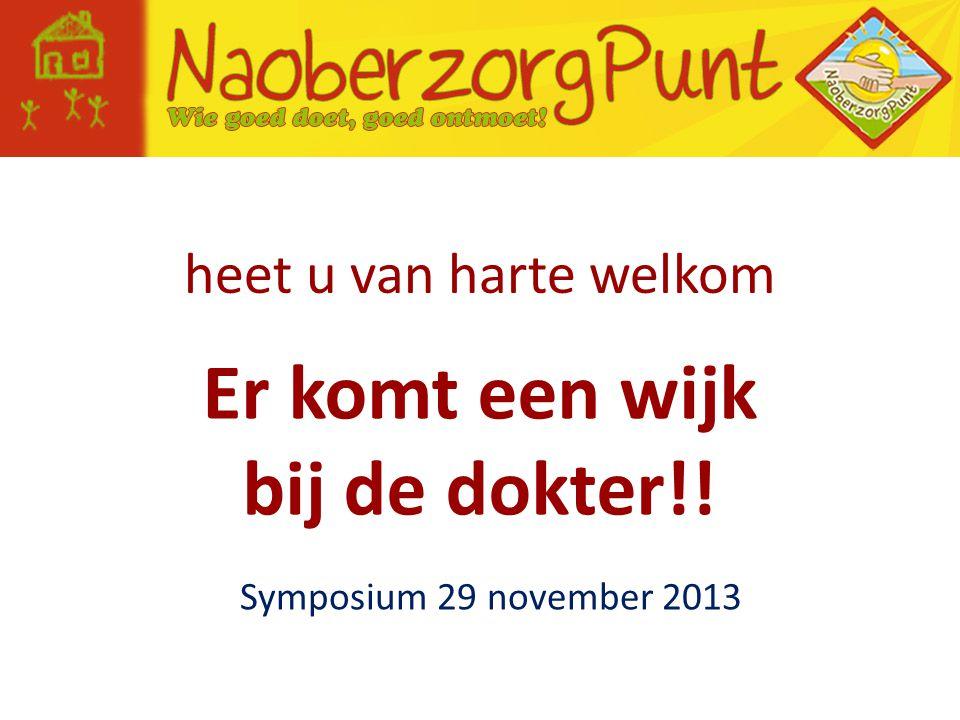 heet u van harte welkom Symposium 29 november 2013 Er komt een wijk bij de dokter!!
