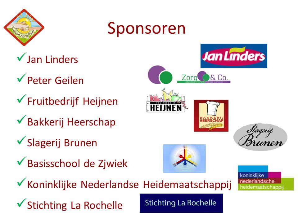  Jan Linders  Peter Geilen  Fruitbedrijf Heijnen  Bakkerij Heerschap  Slagerij Brunen  Basisschool de Zjwiek  Koninklijke Nederlandse Heidemaat