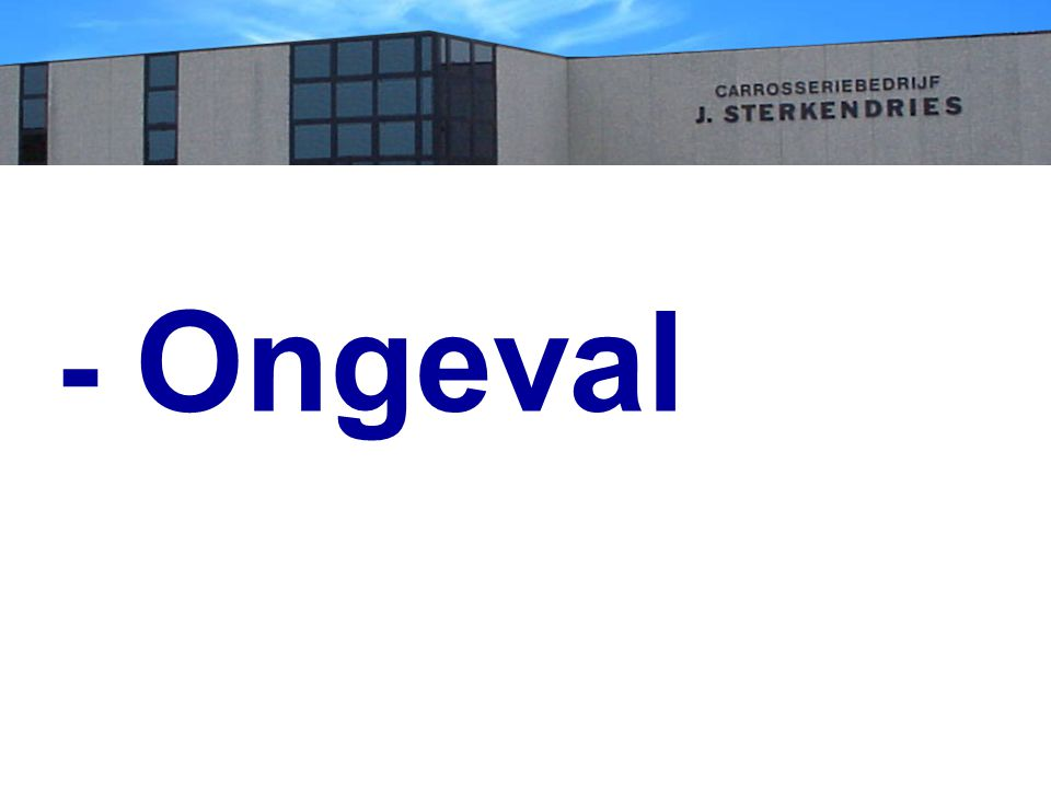 - Ongeval