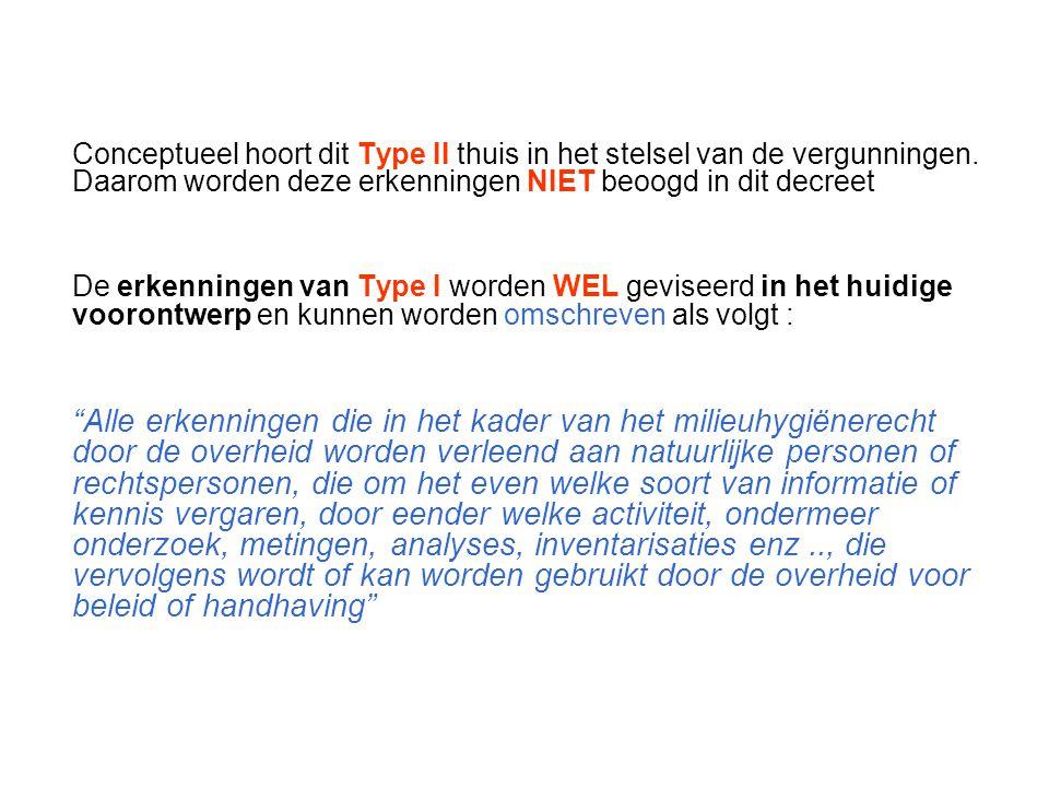 Conceptueel hoort dit Type II thuis in het stelsel van de vergunningen.