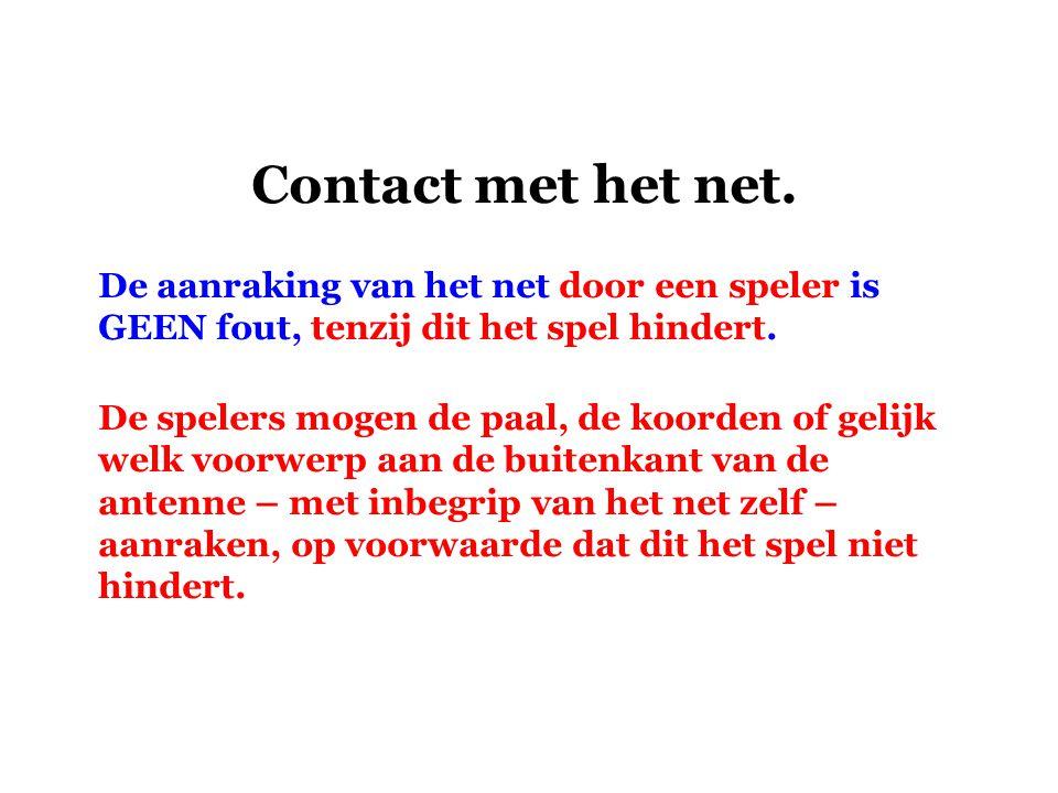 Contact met het net.