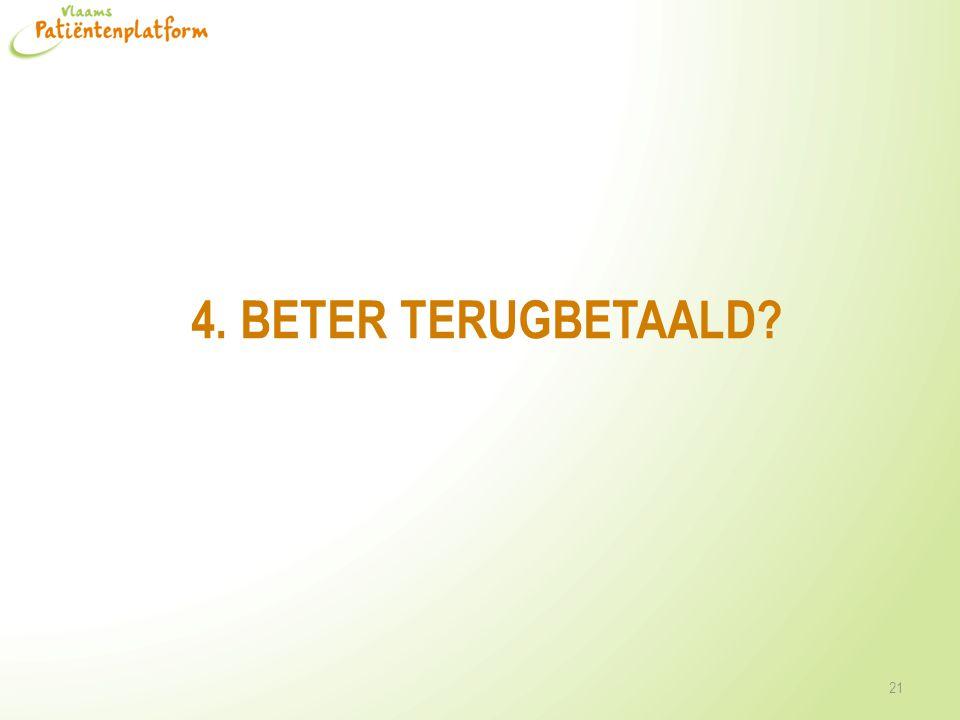 4. BETER TERUGBETAALD? 21