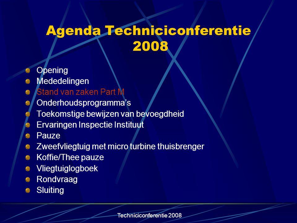 Techniciconferentie 2008 Opties ARC keuring Via contract met CAMO (gecontroleerde omgeving), twee maal de verlenging van de ARC door deze CAMO en om de drie jaar een keuring door de CAMO met de uitgifte van een ARC.