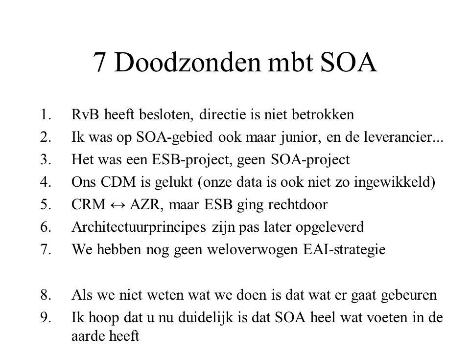 Wanneer geen SOA.
