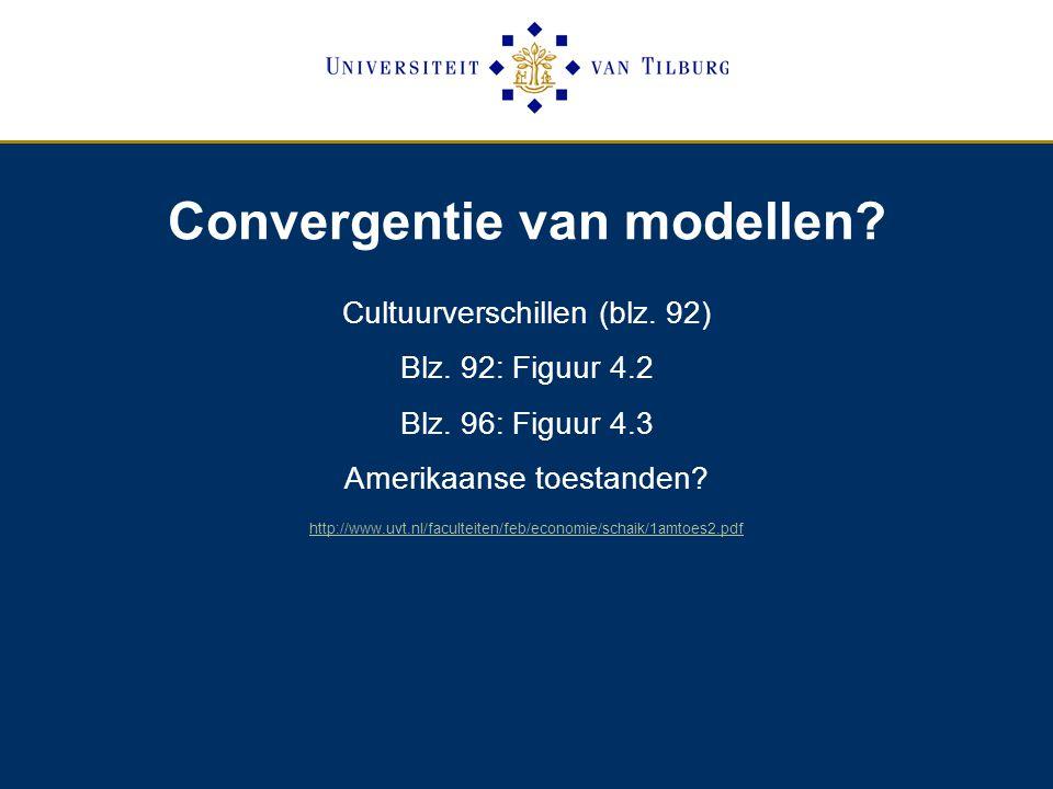Convergentie van modellen.Cultuurverschillen (blz.