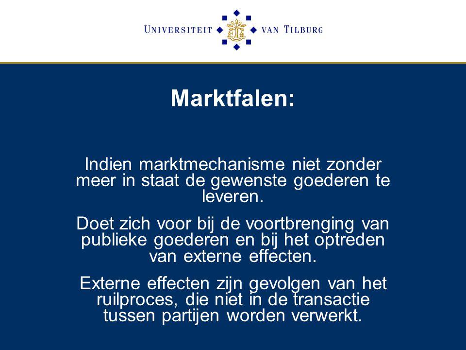 Externe effecten Theorema van nobelprijswinnaar Coase: Externe effecten kunnen worden omzeild door de eigendomsrechten duidelijk vast te leggen (blz.
