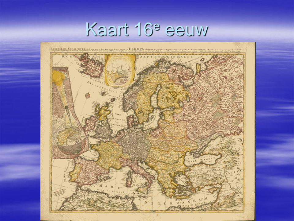 Kaart 16 e eeuw