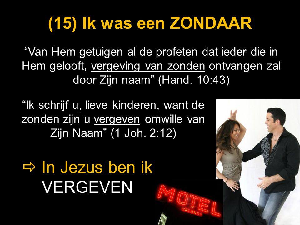 """""""Van Hem getuigen al de profeten dat ieder die in Hem gelooft, vergeving van zonden ontvangen zal door Zijn naam"""" (Hand. 10:43) (15) (15) Ik was een Z"""
