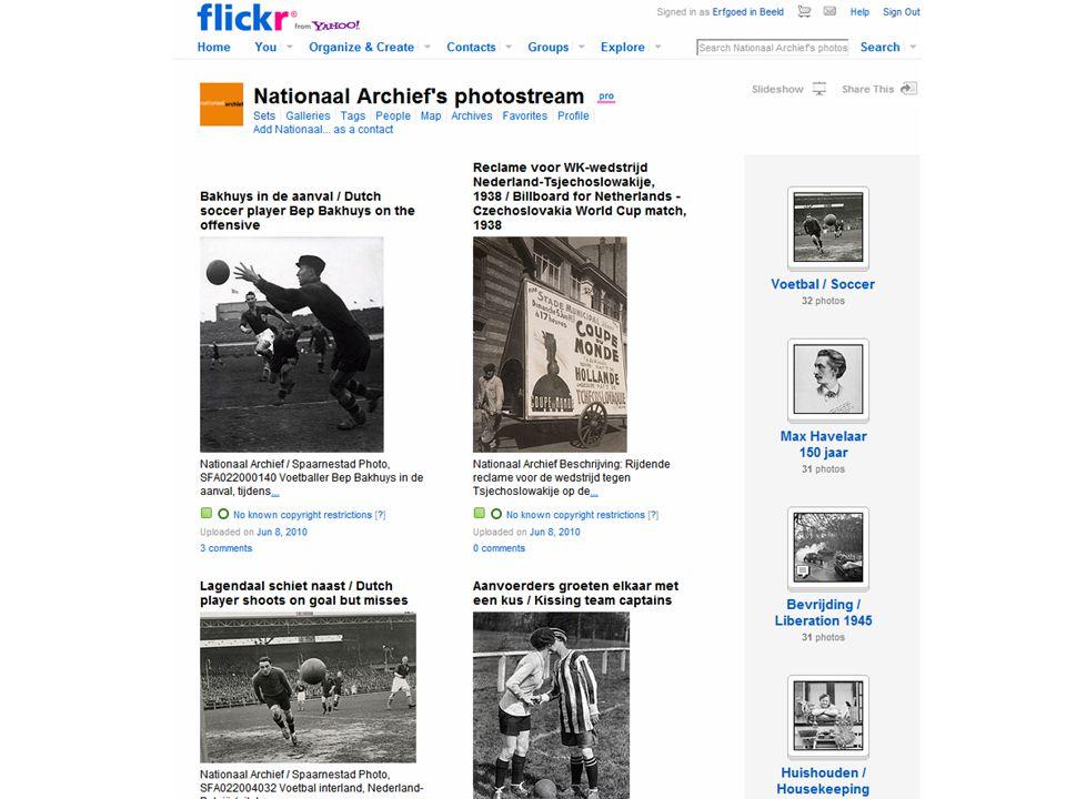 Top 10 'interestingness' •Nummer 4: foto's Eerste Wereldoorlog •Van alle Nationaal Archief foto's op Flickr wordt de WO I-collectie het meest bekeken, becommentarieerd en voorzien van tags