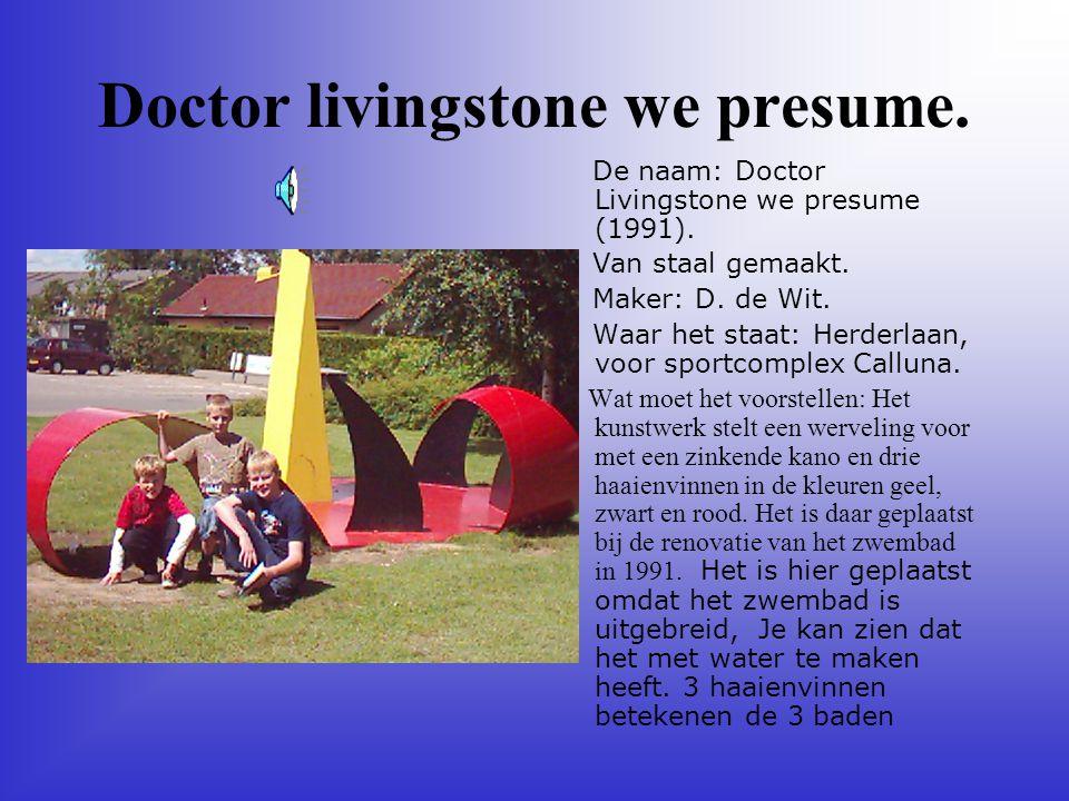 Doctor livingstone we presume.De naam: Doctor Livingstone we presume (1991).