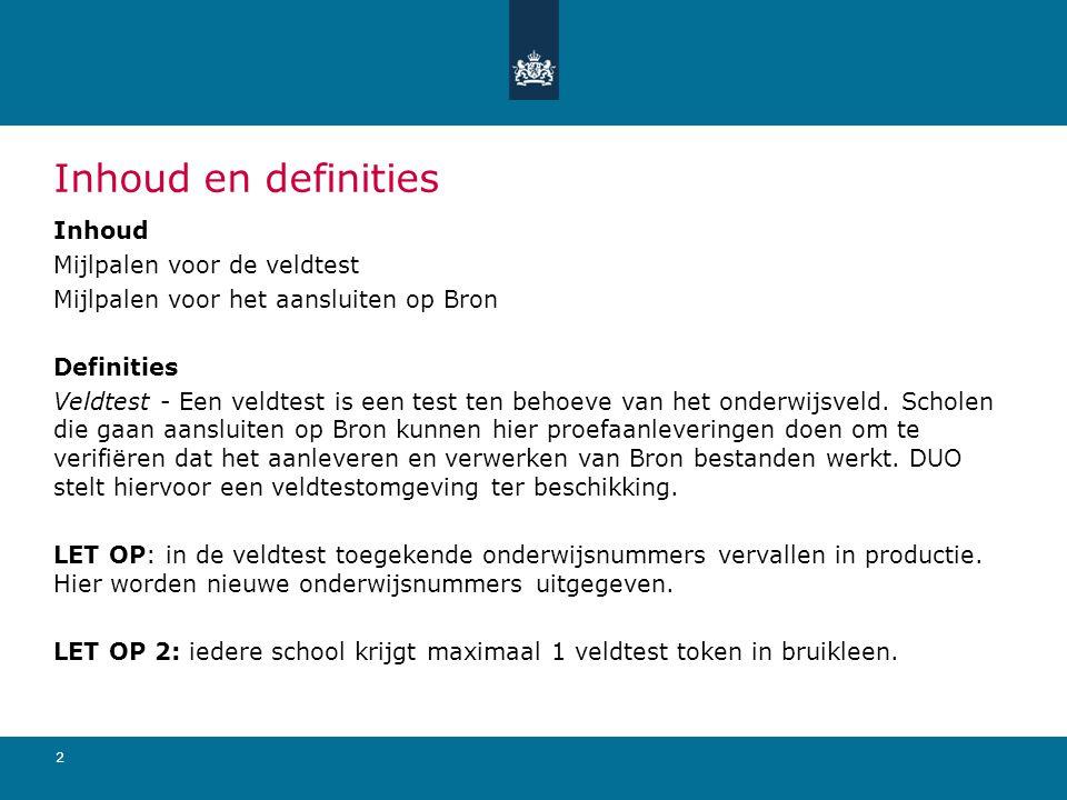 3 Mijlpalen veldtest • 31 maart 2011 – informatiesessie Utrecht, uitdelen deelnameformulieren, mogelijkheid tot aanmelden Veldtest • Vanaf 1 april – ondersteuning door IPO • 1 mei – deadline deelnameformulieren & aanmelden veldtest • Vanaf 16 mei – uitrol tokens voor Zakelijk Portaal in Veldtest • Vanaf 15 juni – veldtestomgeving beschikbaar • 1 oktober – einde veldtest • 1 november– deadline inleveren ZP-veldtest tokens