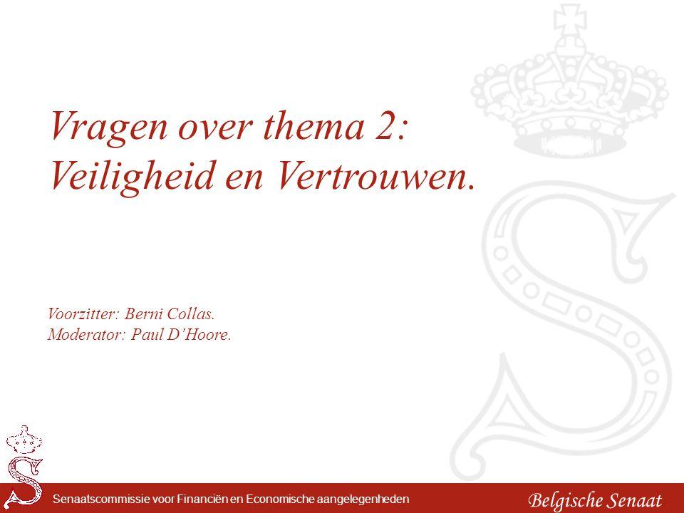 Belgische Senaat Senaatscommissie voor Financiën en Economische aangelegenheden Lunch.