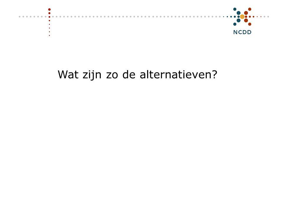 Digitale duurzaamheid - INHOLLAND 17 juni 2008 11 Wat zijn zo de alternatieven?