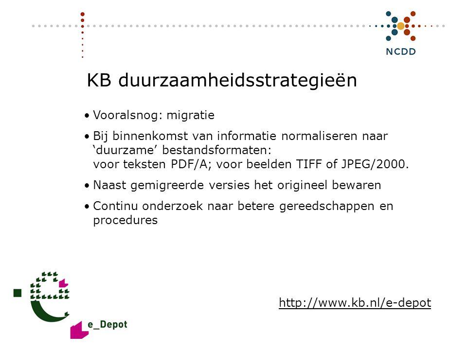 Digitale duurzaamheid - INHOLLAND 17 juni 2008 22 KB duurzaamheidsstrategieën •Vooralsnog: migratie •Bij binnenkomst van informatie normaliseren naar