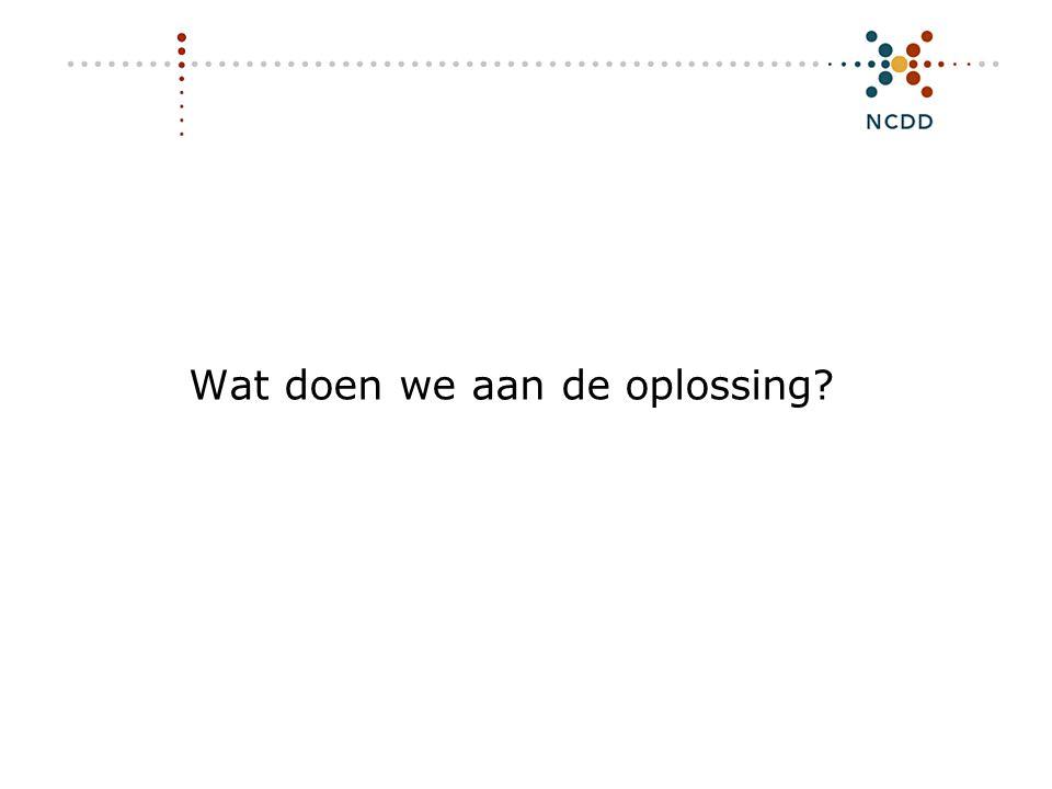 Digitale duurzaamheid - INHOLLAND 17 juni 2008 7 Wat doen we aan de oplossing?