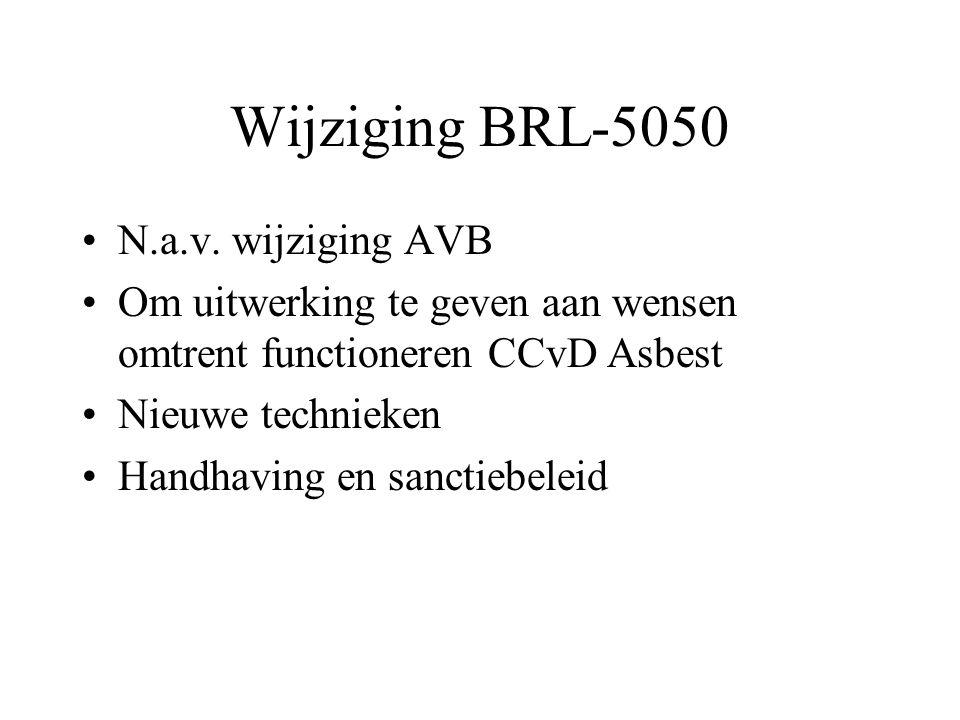 Wijziging BRL-5050 •N.a.v.