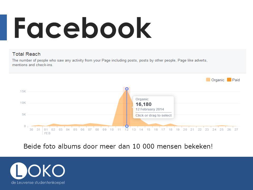 Facebook Beide foto albums door meer dan 10 000 mensen bekeken!