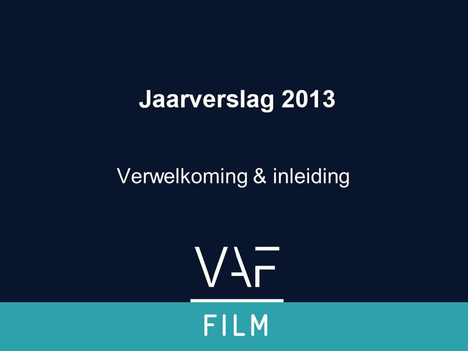 Documentaire •Balans 2013: 91 aanvragen – 46 goedkeuringen •Instroom blijft hoog (2012: 107) •Categorie met de meeste culturele diversiteit •Internationalisering qua productie en uitstraling Jaarverslag 2013 Filmfonds