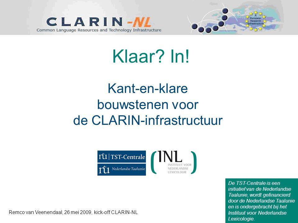 De TST-Centrale is een initiatief van de Nederlandse Taalunie, wordt gefinancierd door de Nederlandse Taalunie en is ondergebracht bij het Instituut voor Nederlandse Lexicologie.