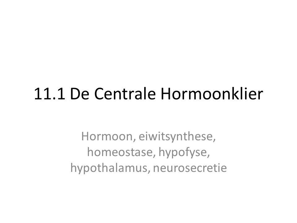 • Hormonen zijn 'berichten' van hormoonklieren voor cellen met de juiste receptoren.