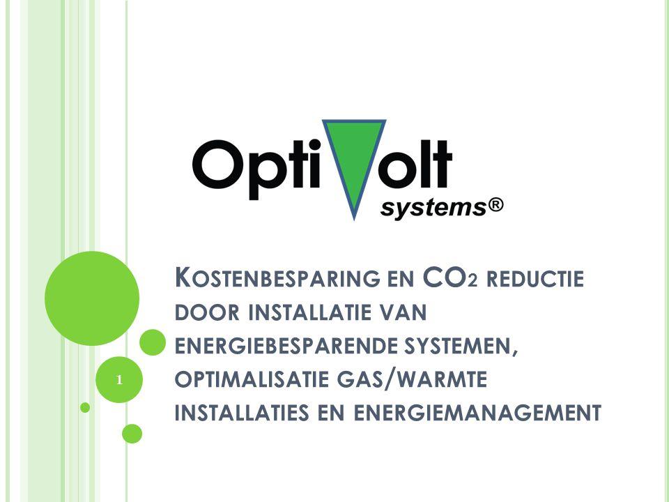 K OSTENBESPARING EN CO 2 REDUCTIE DOOR INSTALLATIE VAN ENERGIEBESPARENDE SYSTEMEN, OPTIMALISATIE GAS / WARMTE INSTALLATIES EN ENERGIEMANAGEMENT 1
