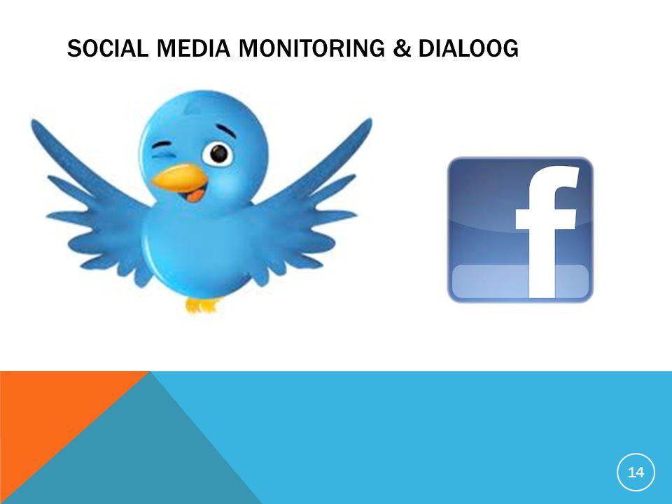 SOCIAL MEDIA MONITORING & DIALOOG 14