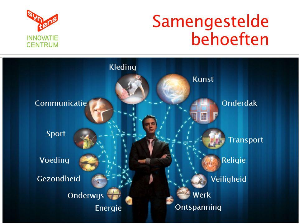 Kleding Communicatie Sport Voeding Gezondheid Onderwijs Energie Kunst Onderdak Transport Religie Veiligheid Werk Ontspanning Samengestelde behoeften