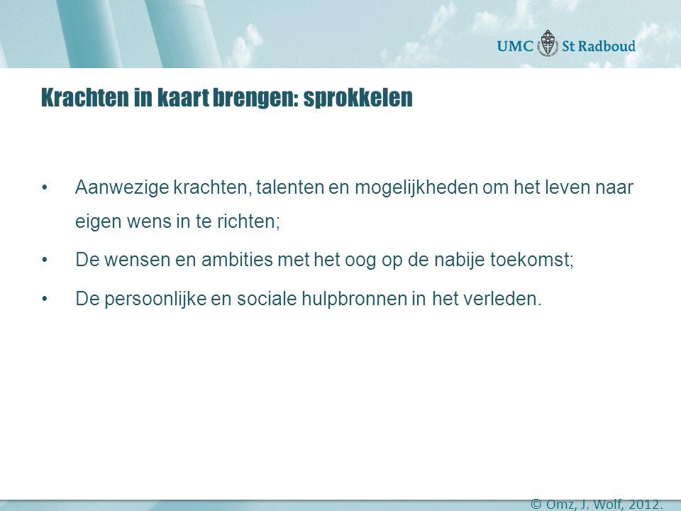 """Onderzoekscentrum maatschappelijke zorg """"gedreven door kennis, bewogen door mensen"""" Krachten in kaart brengen: sprokkelen •Aanwezige krachten, talente"""