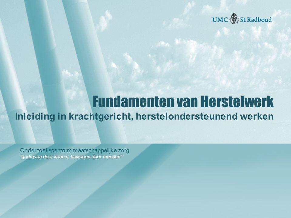 Onderzoekscentrum maatschappelijke zorg gedreven door kennis, bewogen door mensen Focusbepaling Krachten inventariseren & taxatie van draagkracht