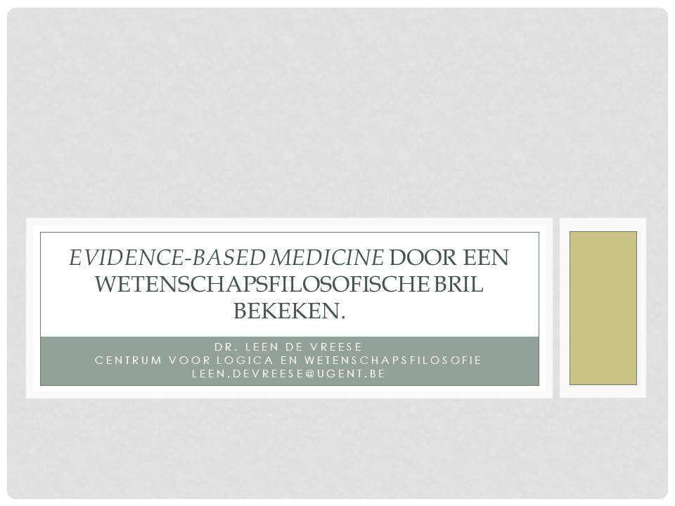 OVERZICHT • EBM: de drijfveren.• De kern van EBM: Evidence hierarchy.