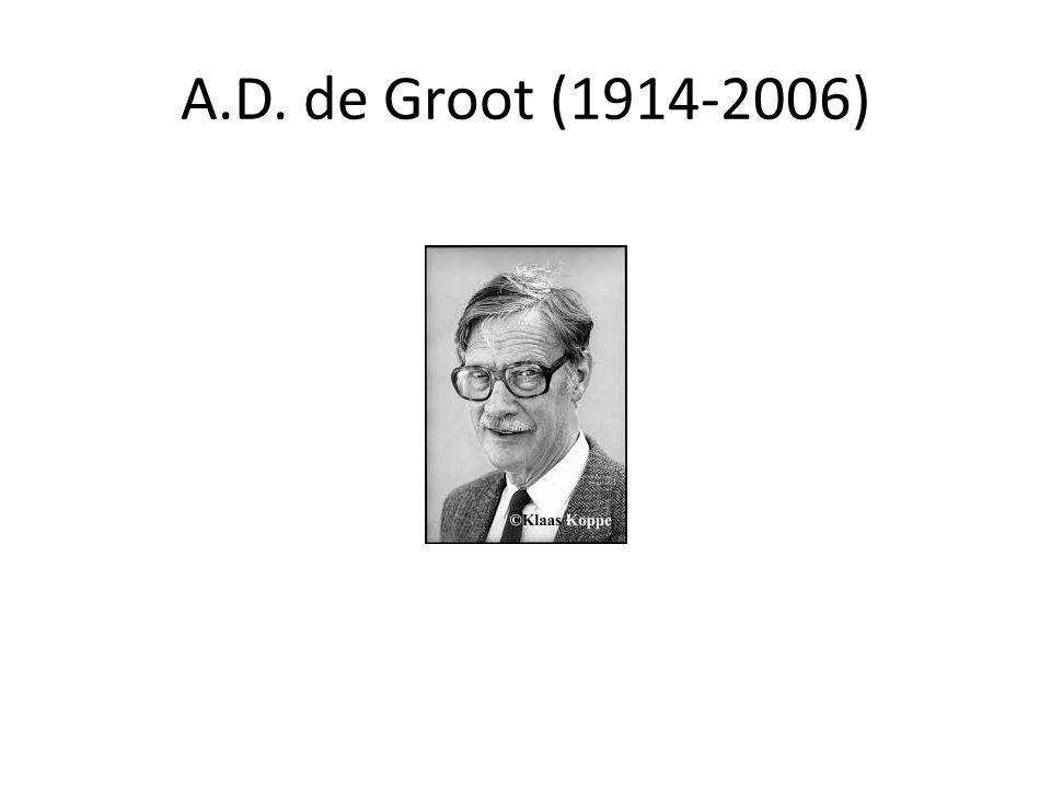 A.D. de Groot (1914-2006)