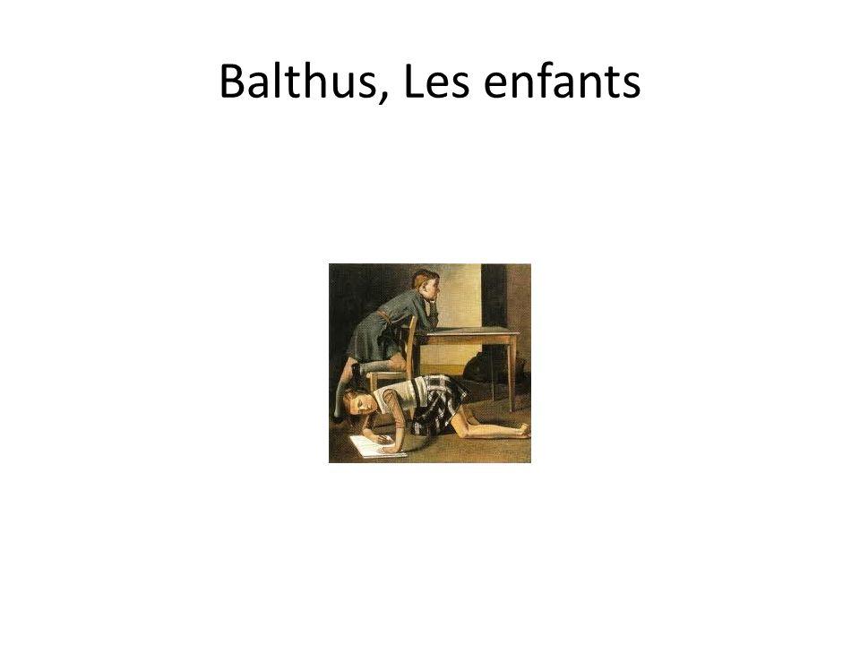 Balthus, Les enfants