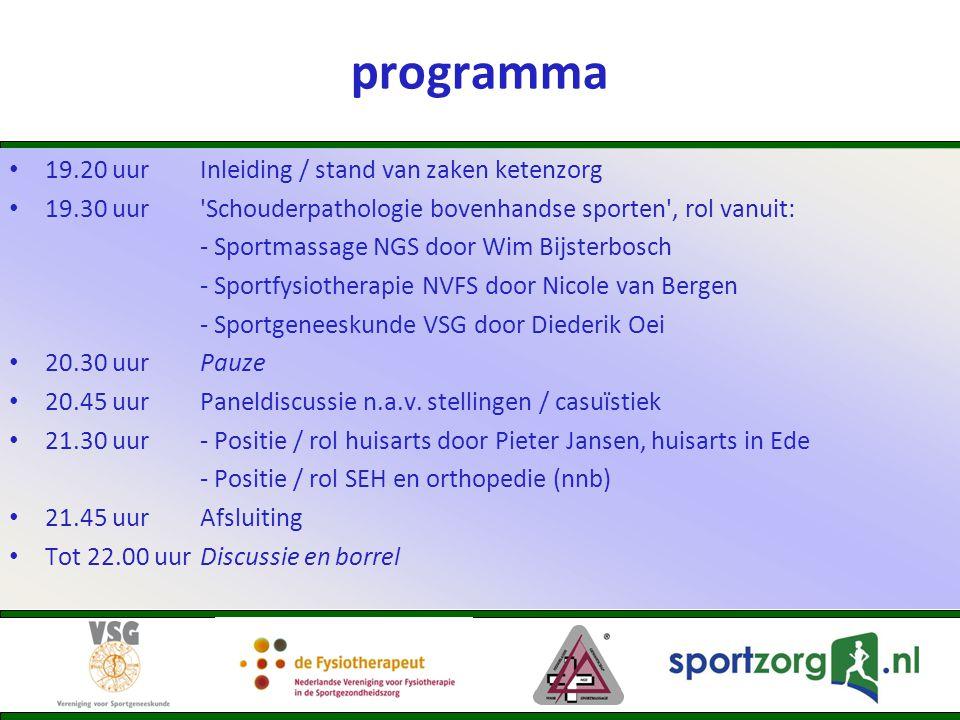 SEH / orthopedie Rijnstate Ziekenhuis Arnhem: – orthopedie → veel sportaffiniteit (o.a.