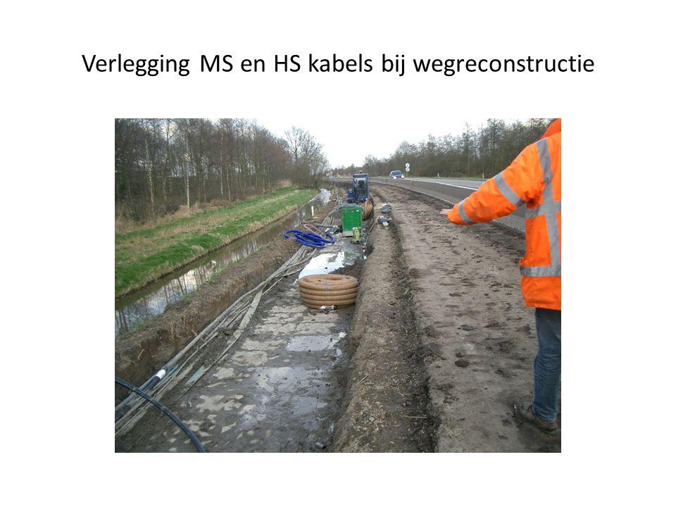 Verlegging MS en HS kabels bij wegreconstructie