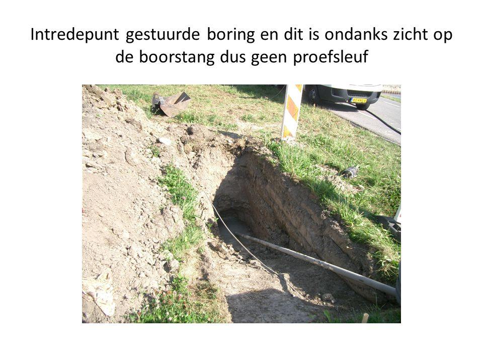 Voorbeeld van een handmatig gegraven proefsleuf