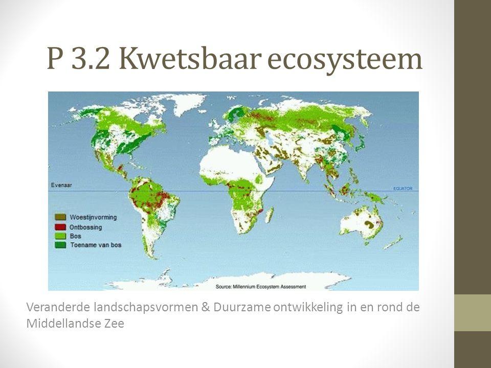 P 3.2 Kwetsbaar ecosysteem Veranderde landschapsvormen & Duurzame ontwikkeling in en rond de Middellandse Zee