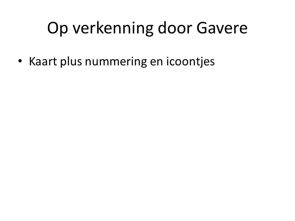 Op verkenning door Gavere • Kaart plus nummering en icoontjes