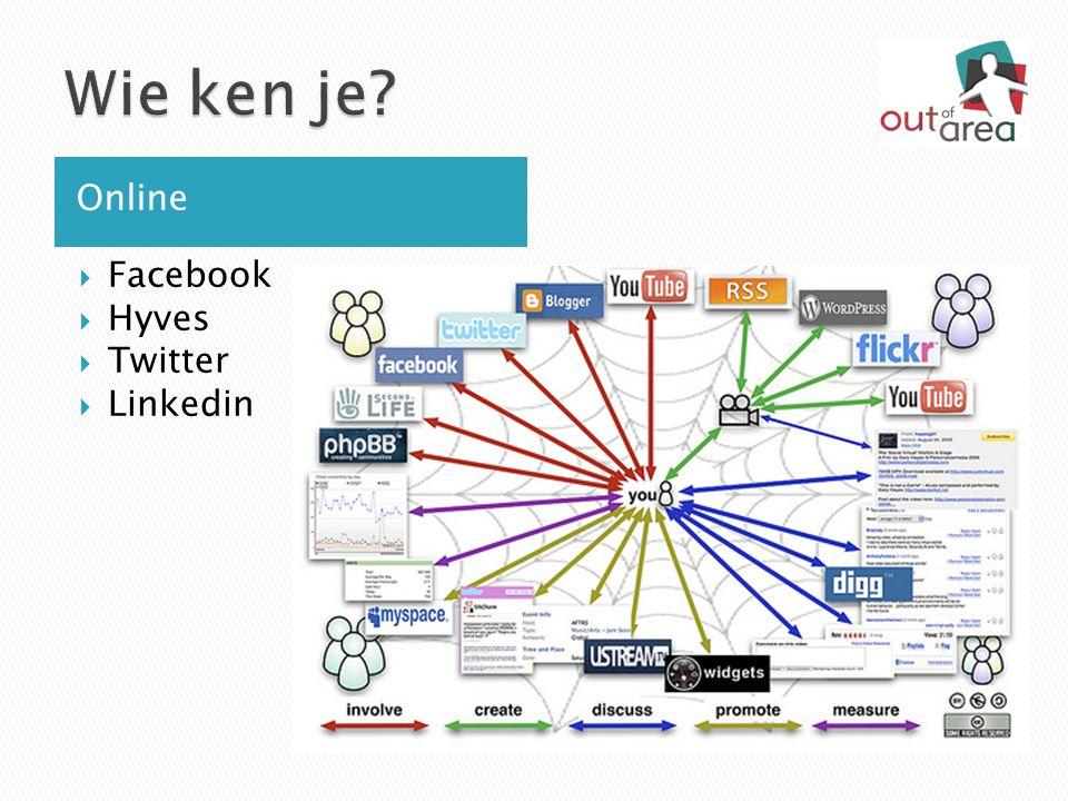  Facebook  Hyves  Twitter  Linkedin Online