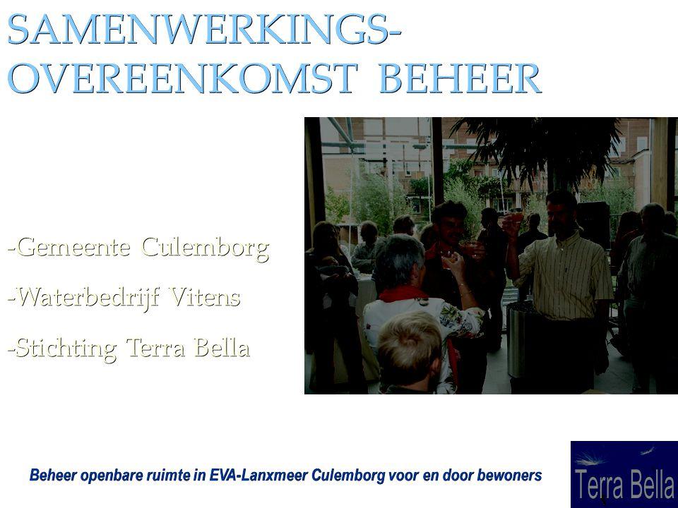 SAMENWERKINGS- OVEREENKOMST BEHEER -Gemeente Culemborg -Waterbedrijf Vitens -Stichting Terra Bella