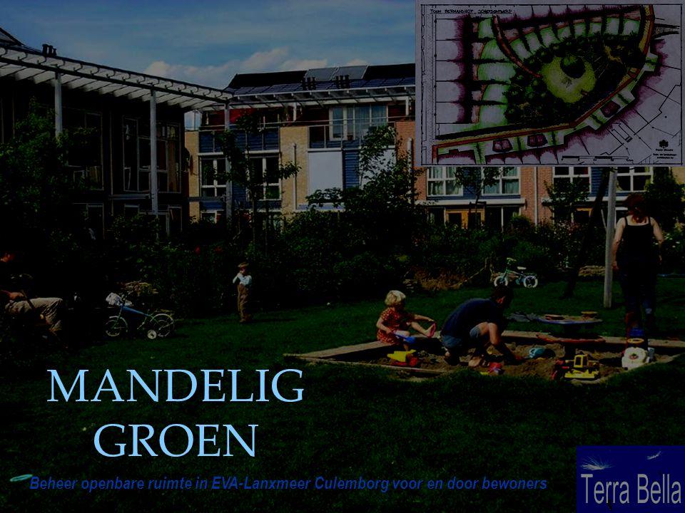 Beheer openbare ruimte in EVA-Lanxmeer Culemborg voor en door bewoners MANDELIG GROEN