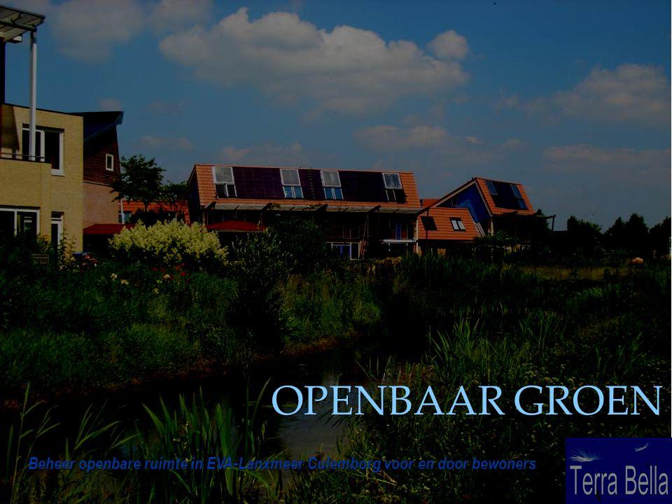 Beheer openbare ruimte in EVA-Lanxmeer Culemborg voor en door bewoners OPENBAAR GROEN