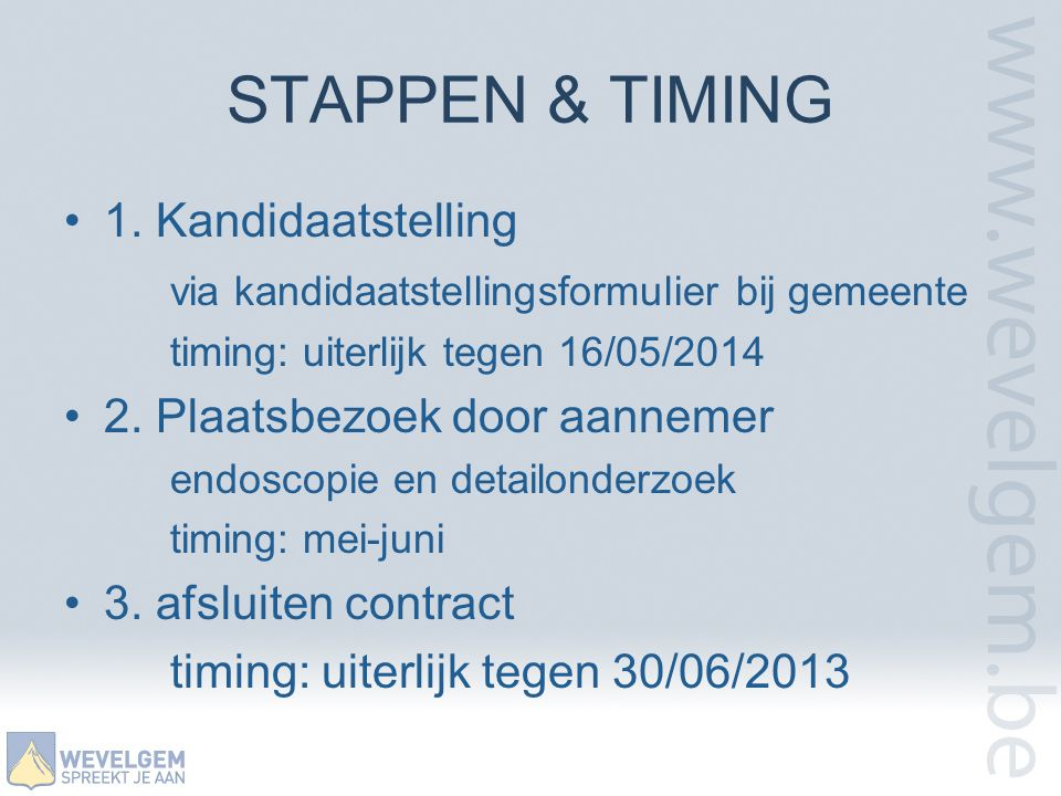 STAPPEN & TIMING •1.