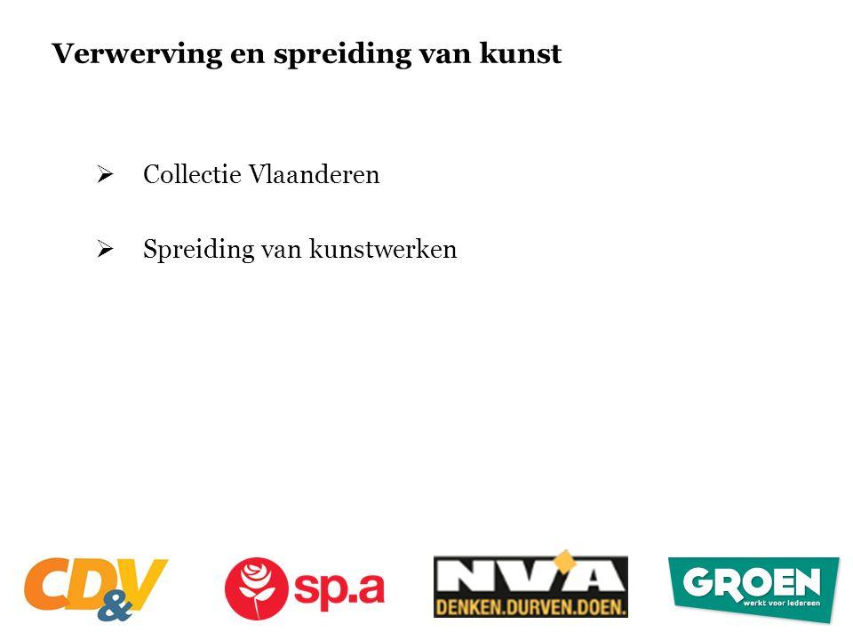 Verwerving en spreiding van kunst  Collectie Vlaanderen  Spreiding van kunstwerken