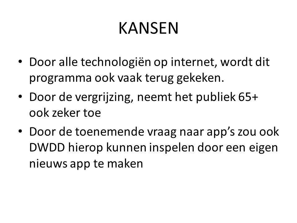 KANSEN • Door alle technologiën op internet, wordt dit programma ook vaak terug gekeken.