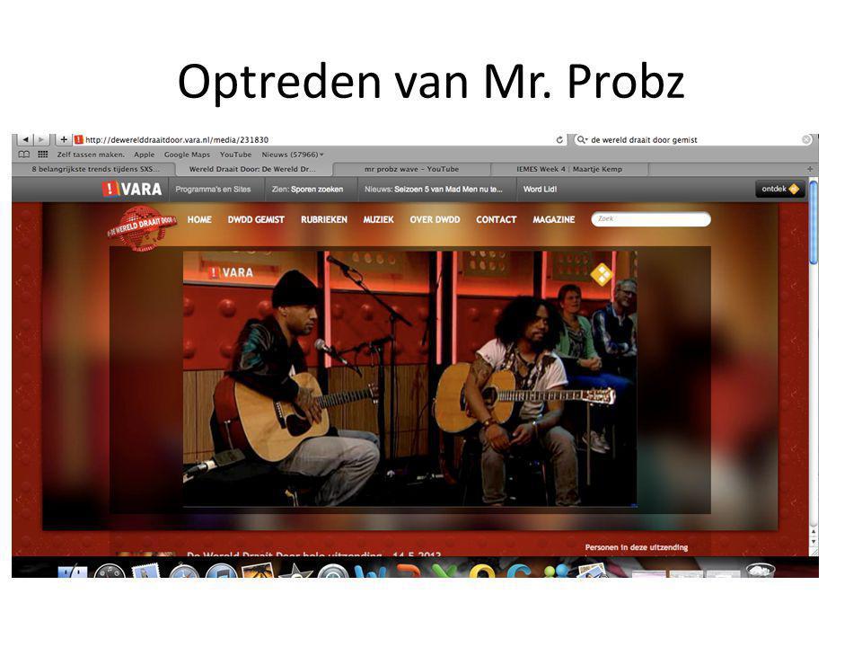 Optreden van Mr. Probz