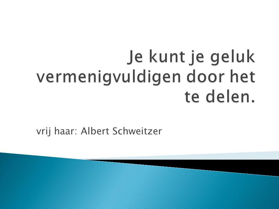vrij haar: Albert Schweitzer