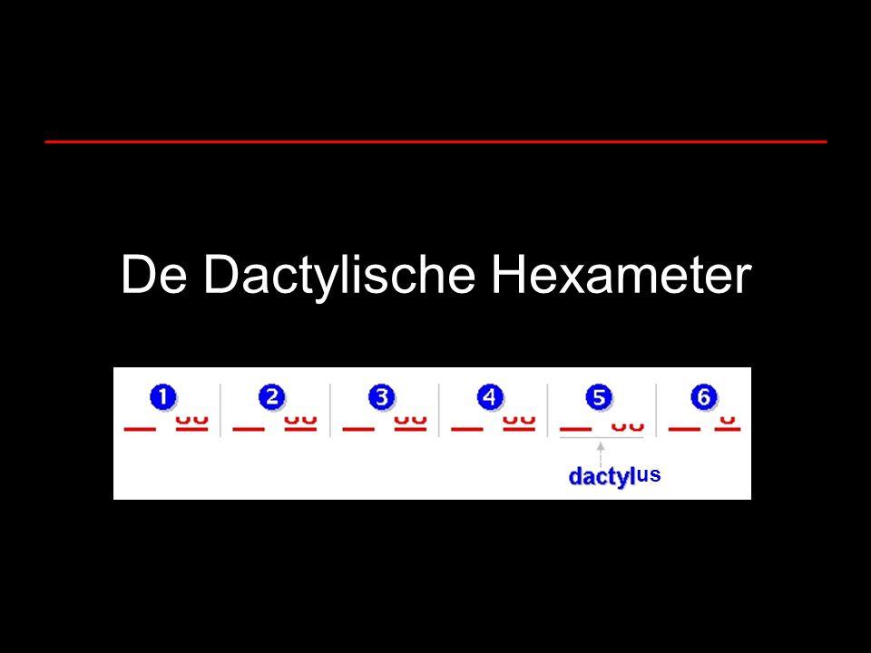 De Dactylische Hexameter us