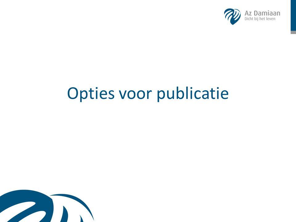 Opties voor publicatie