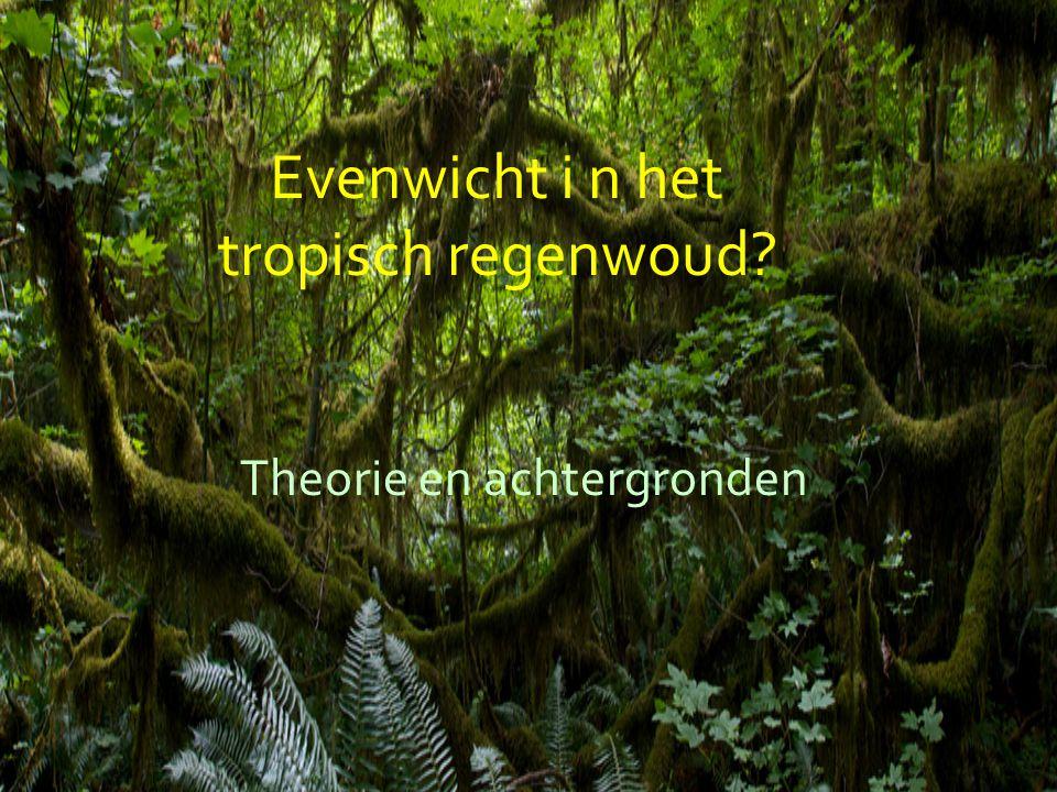 Tropische bossen Enorme diversiteit (bijvoorbeeld: > 300 soorten bomen op Barro Colorado Island, Panama (een eiland van slechts 1560 ha)